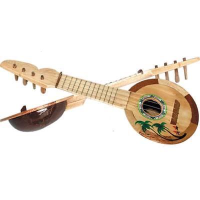 Coconut Ukulele 17 Inch Luau Party Musical Instrument