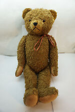 ANTIQUE TEDDY BEAR MOHAIR HUMPBACK 26in BING STEIFF JOINTED GROWLER WORKS 20thC