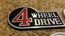 Aluminum Retro Toyota 4 Wheel Drive Badge (Black)