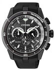 Citizen Eco-drive Resin Band Mens Steel Case Chronograph Watch Ca4157-09e