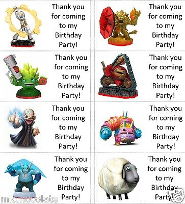 TRAP TEAM SKYLANDERS CAKE  PARTY STANDS UP TOPPERS WAFER CARD Diy x23 PIECES
