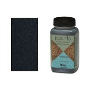 4oz Coal Black Eco Leather Dye - Flo Colour Leathercraft Tandy 260001