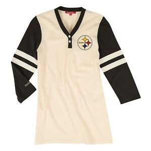 Hot Pittsburgh Steelers Women's Mitchell & Ness NFL Shoot Out V neck L  for cheap