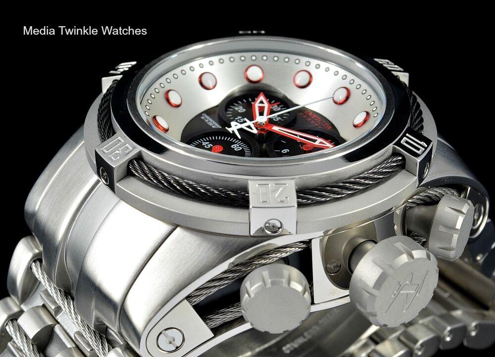 invicta 22158 reserve bolt zeus swiss quartz chronograph black dial