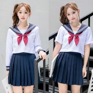 JK School Uniform Cosplay Women Girl Short Skirt Rabbit Ear Sailor Costume Dress