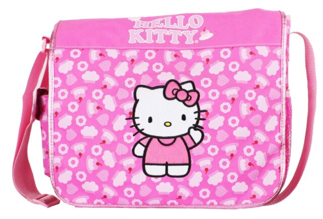 6cf162f4ad2b Hello Kitty Girl s Messenger Bag School Books Authentic Pink Kids ...