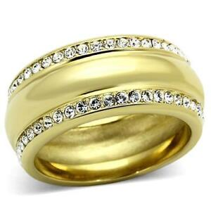 Gold-wedding-ring-band-9mm-cubic-zirconia-18kt-yellow-gold-steel-no-tarnish-096