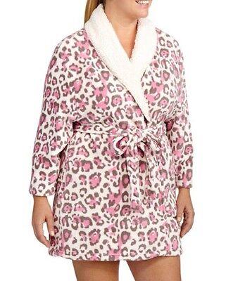 Pink Leopard Robe