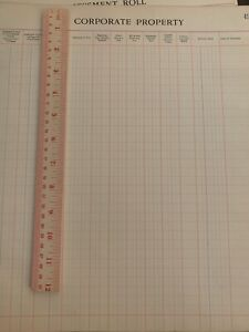 Ledger-Paper-Supersize-12-x-13-5-Blank-Coorporate-Property-Assessment-Roll-1904