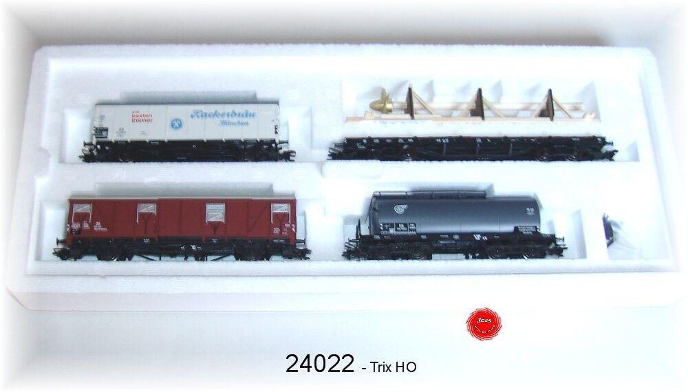 Trix 24022 Set de vagones de dB 4 Piezas  NUEVO EN EMB. orig.