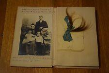 Vintage 1921 Complete Baby Memory Book Photo Album Scrapbook Newborn to Adult