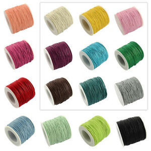 100yard/Roll Mixed Color Waxed Cotton Cords Beading Thread For Jewelry Making