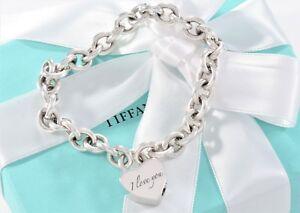 d0e56b88a Tiffany & Co Silver I Love You Lock Charm 7.5