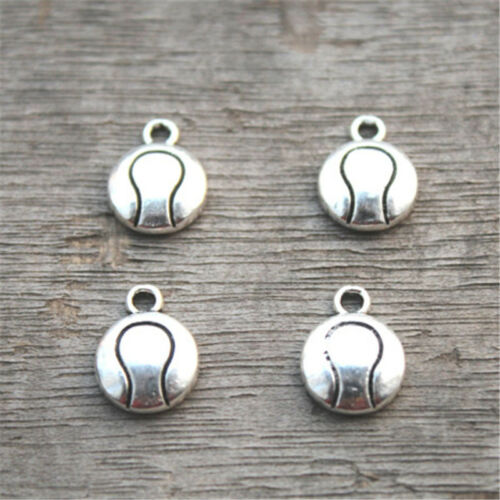 30pcs Tennis Ball Charms  silver tone Tennis charm pendants 13x10mm