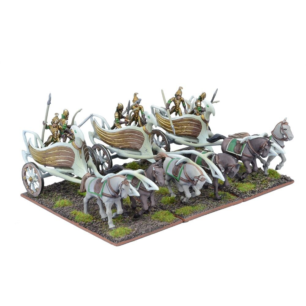 tienda de venta ELF WAR CHARIOT REGIMENT (3 Figuras) Figuras) Figuras) - KINGS OF WAR MANTIC  sorteos de estadio