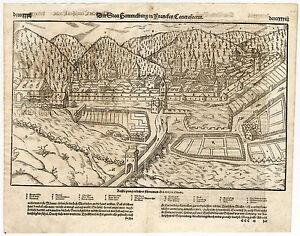 Antique Print Hammelburg Franconia Bavaria Germany Munster 1598 Ebay