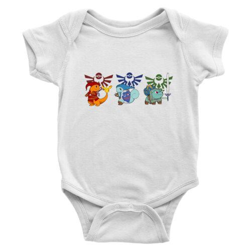 Legend of Zelda Link Crossover Game Infant Baby Boy Girl Rib Bodysuit Clothes