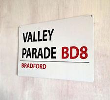 Bradford City Valley Parade Football street sign A4 metal plaque decor