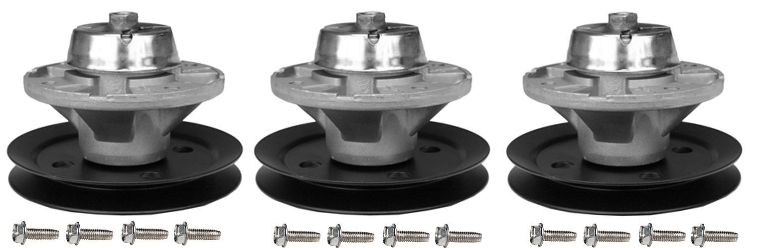 3 Pk. Spindles w pulley John Deere am121229, am121342 Lx & Gt Serie (f3)