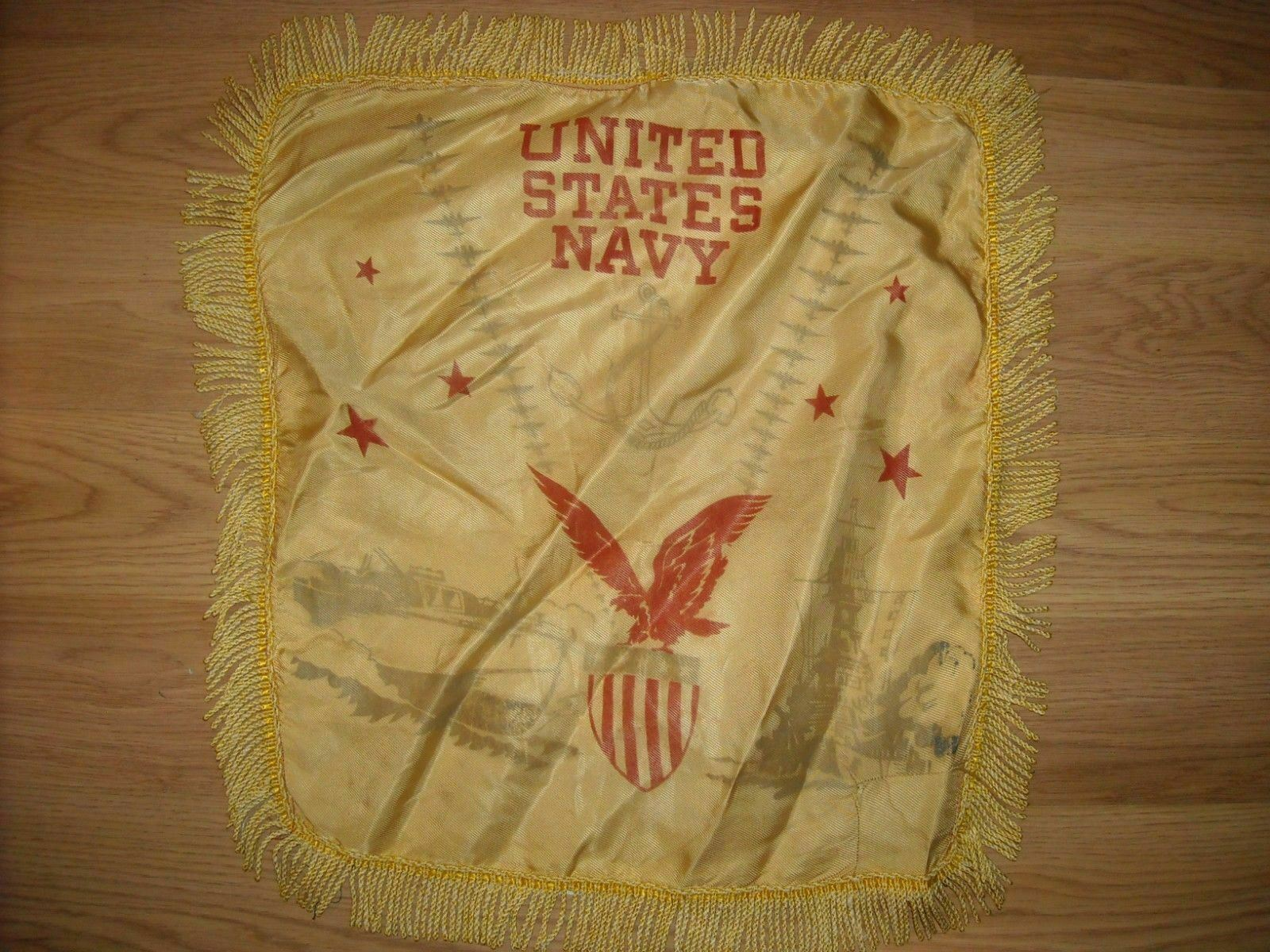 VTG 40 WWII US MILITARY US UNITED STATES NAVY PILLOW COVER CASE