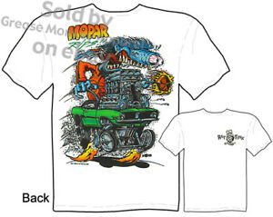 Mopar-Rips-Rat-Fink-T-shirt-Ed-Roth-Tee-Muscle-Car-Apparel-Sz-M-L-XL-2XL-3XL