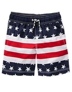 Swim Shorts Gymboree Stripes Nwt Stars Trunks American Boys Patriotic amp; Usa Flag ZCCqwxA8