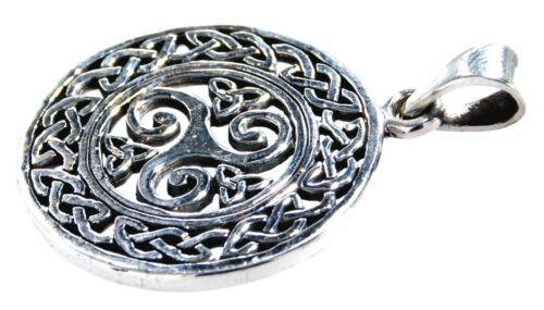Triskele 925 Silber Anhänger Silberkette Triskelen Dreierspirale Spirale  Nr.318