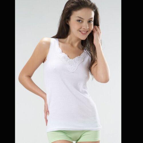 REMIXX Donna Sotto Camicia Top Spalline Camicia Pizzo Biancheria Intima Camicia Da ascella