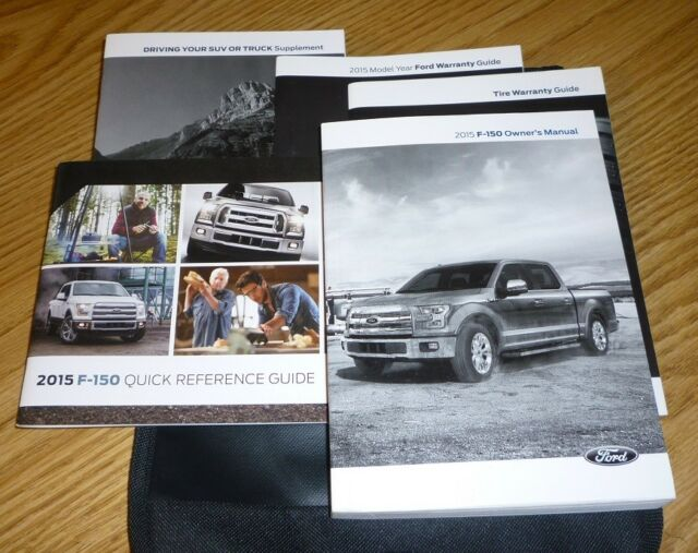 2015 Ford F150 F 150 Owners Manual Set Guide 15 W Case Xl Manual Guide