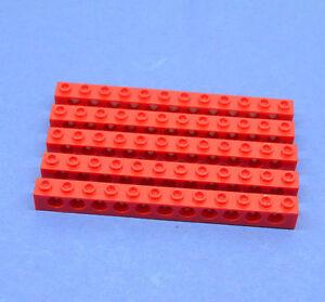 LEGO 5 x Technik Technic Lochstein Lochbalken 1x12 rot red hole brick 3895
