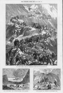 1874-Antique-Print-CHINA-Yarkund-Kashgar-Mission-Grim-Sanjoo-Pass-Karakash-16