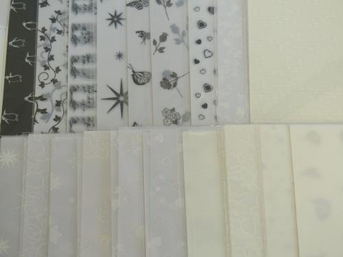 Vélin imprimé à motifs feuilles 10 x 100gsm A4 19 Designs à Choisir Cardmaking