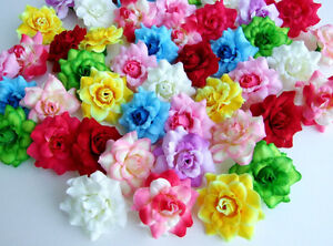 100 mix rose artificial silk flower head wholesale lots decor clip image is loading 100 mix rose artificial silk flower head wholesale mightylinksfo