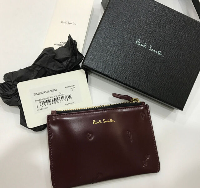 Paul Smith COIN PURSE WALLET Hearts Design Made in Spain