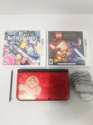 Nintendo 3ds Xl Limited Edition Super Mario Bros 2 Red Handheld W