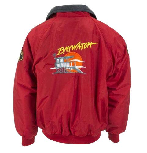 Baywatch Vintage Rettungsschwimmer Rote Baumwolle Bomber Jacke Strand Kostüm