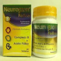 1 Bottle Of Neurobion Folic + B Complex 50 Tabs / Neurobion Folico + Complejo B