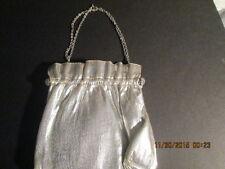 Womens Evening Bag silver snap closure like a change purse w/chain handle adj.