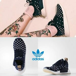ADIDAS-NMD-R2-Boost-PK-Unisex-Running-Sneakers-Size-4-11-Navy-Navy-White-BA7560