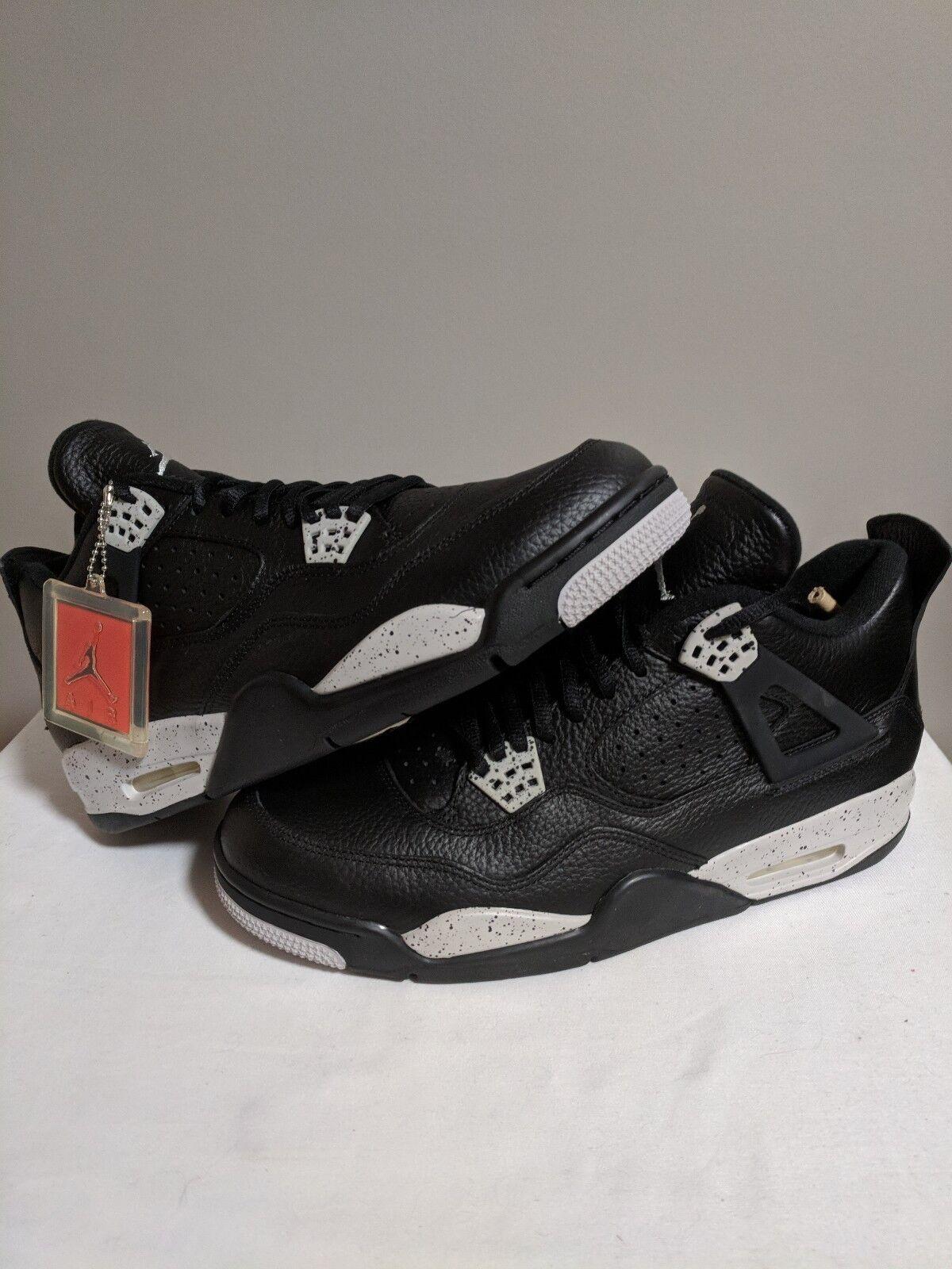 Jordan Retro 4 Oreo Negro gris blancoo