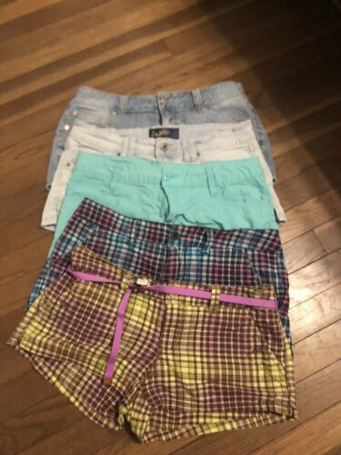 Lot Of 5 Pair Juniors Size 9 Shorts Union Bay, Par