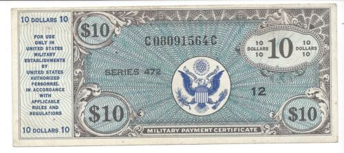 Series 472 10  Dollars EF good looking note!