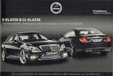 MERCEDES-BENZ CLASSE S & CL Carlsson Tuning Accessori 2009 OPUSCOLO TEDESCO