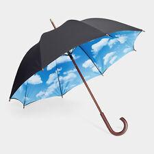 MoMA Sky Umbrella Wooden Handle Outdoor Rain Cover Parasol Unique Gift Unisex