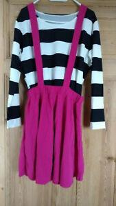 buy popular ed046 ebd95 Details zu 2-Teiler pinker Rock und blau-weiß gestreiftes Shirt flippig  Gr.46 Neu