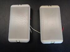 "DUAL SWITCH CABIN LIGHTS PAIR (2) WHITE PLASTIC 7 1/4"" X 4"" MARINE BOAT"