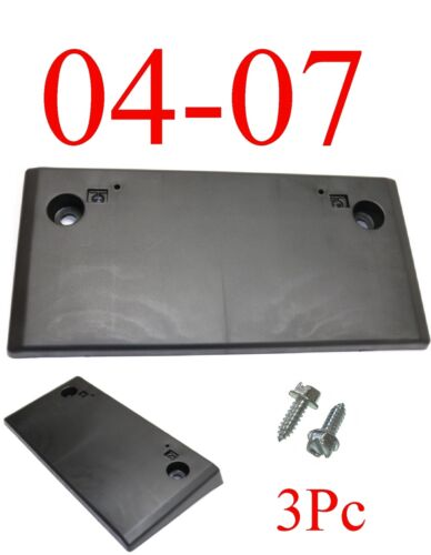 W// Hardware Mitsubishi MI1068100 3Pc 07 Lancer Front License Plate Bracket