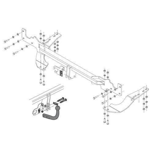 Towbar for Citroen C4 Grand Picasso MPV 2007-2014 Swan Neck Tow Bar