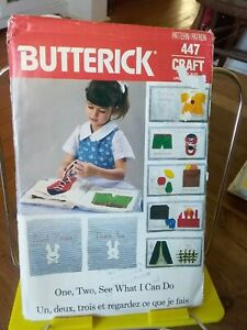 Butterick-Crafts-447-5626-childs-fabric-learning-book-1-2-see-what-I-can-do-NEW