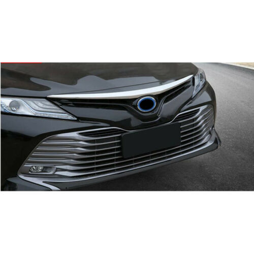 Fit For Toyota New Camry 2018 L//LE//XLE Chrome Front Hood Grill Cover Bonnet Trim